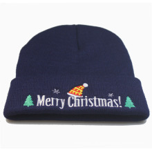 Natal Xmas Unisex malha inverno quente bordado chapéu Beanie (HW145)