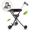 5 Silent PU Wheels Portátil y estable Easy Fold Custom Safety Cochecito de bebé