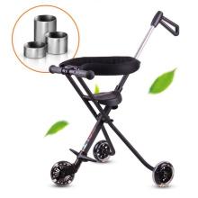 5 rodas silenciosas do plutônio carrinho de bebê feito sob encomenda portátil e estável da segurança da dobra fácil