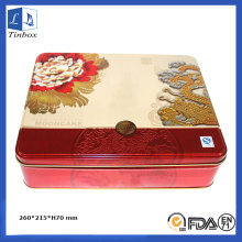 Metal Moon Cake Box Embalaje