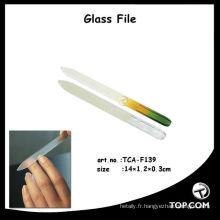 classeur à porte coulissante en verre / limes à ongles en verre en gros / lime à pieds en verre