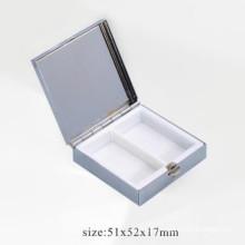 Boîte à comprimés en métal mini cosmétiques pour 2 unités (BOX-23)