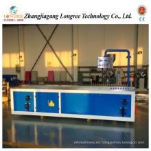 Máquina de perfil de PVC / WPC, plataforma de plástico y línea de extrusión de ventanas
