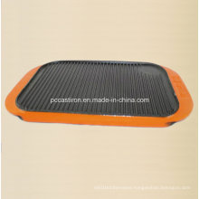 FDA Cast Iron Griddle Plate with Enaml Handle