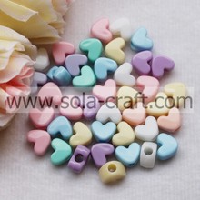 6.5*9*12MM 2014 New Solid Colors Plastic Heart Charm Beads Purchase