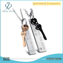Beautiful jewelry high quality titanium cheap love necklace personalized love necklaces