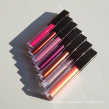 Wholesale Custom Logo Private Label Non-stick Lip Gloss Vegan No Animal Test Matte Lipgloss Lip Glaze with Flavor