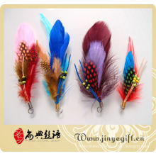 Wholesale Handmade Colored Natural Feather Accessory