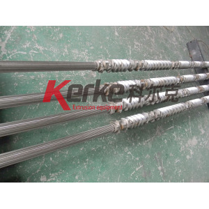 plastic extruder twin screw barrel through CE ISO