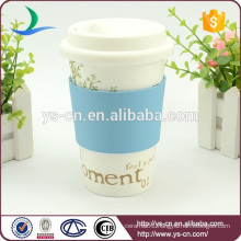 Porcelain cup with lids wholesale