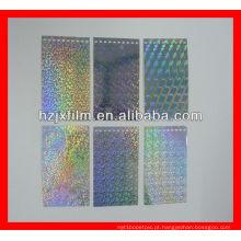 Filme de prata PET laser