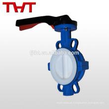 Válvula de borboleta de vácuo de serviço completo a vapor revestida de PTFE