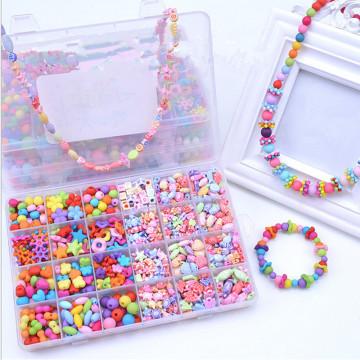 Hot Sale DIY String Beads Conjuntos de brinquedos para meninas Brinquedos educativos