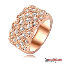 Luxus 18k Rose Gold Plating Verlobungsringe (Ri-HQ0062)