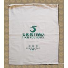 Printed Cotton Hotel Kordelzug Laundy Wasch Reinigungsbeutel (YKY7404)