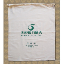 Printed Cotton Hotel Drawstring Laundy Washing Cleaning Bag (YKY7404)