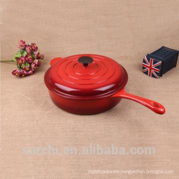 1.3 Quart Enameled Cast-Iron Saucepan
