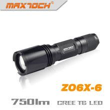 Maxtoch ZO6X-6 750 lúmenes 1 * 18650 IPX7 Cree T6 XM-L Zoom