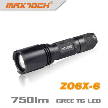 Maxtoch ZO6X-6 750 Lumens 1 * 18650 IPX7 crie T6 XM-L Zoom