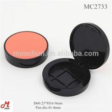 MC2733 Wholesale plastic round shape Blush case make up box
