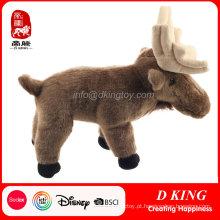 Brinquedo de pelúcia de fabricante de brinquedo popular Elk macio