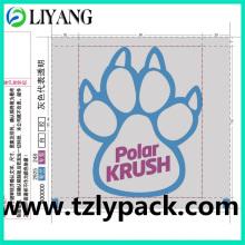 Pet, Heat Transfer Film for Plastic, Bear Paw