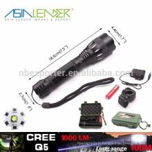 Q5 / 5W-1200 Lumens, torche tactile rechargeable à LED
