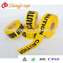 Привлекательная цена желтый с черным PE печатания барьер ленты
