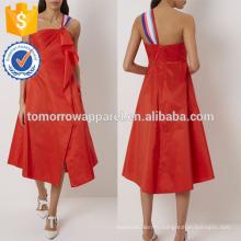 Новая мода ярко-красный одно плечо платье Производство Оптовая продажа женской одежды (TA5223D)