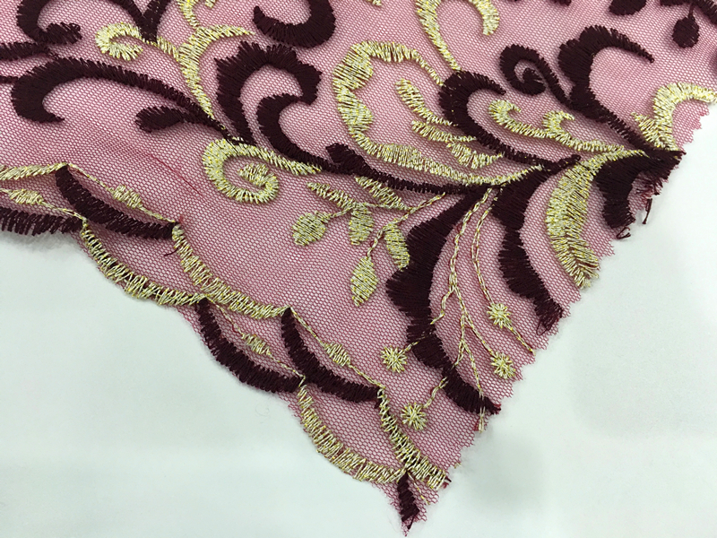 Polyester Yarn Embroidery Fabric