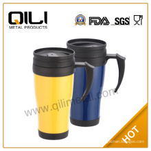 450ml double wall bpa free 16oz clear custom plastic travel mug
