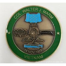China Fabricante Fabricante Personalizado de Metal / Antiguidade / Lembrança / Ouro / Militar / Polícia de Prata Moeda Desafio com o Logotipo Nenhum Mínimo