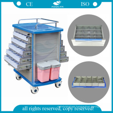 AG-MT011A1 usable on both sides ABS material hospital emergency crash trolley