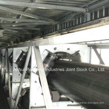 Gummirohr-Förderband- / Röhrenförderband-Anwendung in der Kohlengrube