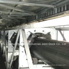 Application de bande transporteuse de tuyau en caoutchouc / bande de convoyeur tubulaire dans la mine de charbon