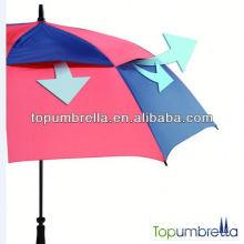 2017 novo guarda-chuva de golfe à prova de vento uv proteção legal