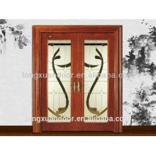 Schiebetür aus Holz, Holztür-Glas-Design, Haupteingangstür