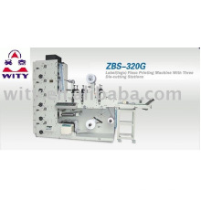 ZBS-320G Label Flexo Printing Machine (three die cutting station,first level)