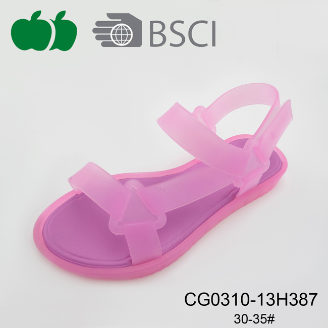 New Design Girl Pvc Summer Sandals