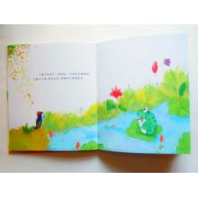 Impression de livre de livre relié de livre d'enfants de livre de couleurs pleines