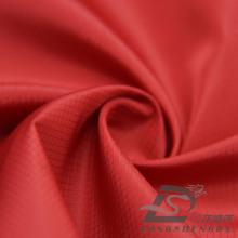 Resistente al agua y al aire libre ropa deportiva al aire libre chaqueta de tela tejida de diamante Jacquard 100% poliéster de tela de filamento (53115)
