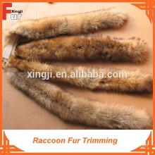 Real fur trim for hood, 4*70 CM