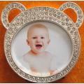 La forma del Oso encantador marco de fotos para bebé