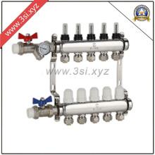 Separador de agua para calefacción de piso con válvulas (YZF-M804)