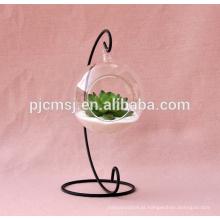 Vaso de vidro alto barato com o vaso de cristal de suspensão para a decoração home