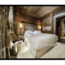 80% coton 20% polyester tissé uni plume d'hôtel blanc