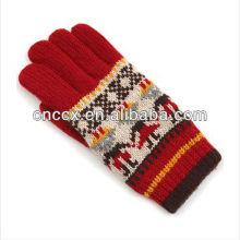 13ST1010 fanshion ladies 'inverno de malha mão luvas quentes