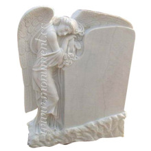White Marble Statuary Tombstone