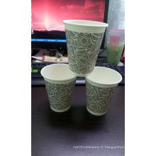 Tasse de papier de thé de café imprimé par logo fait sur commande