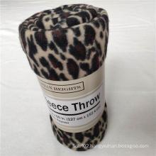 Cheetah Printed Polar Fleece Throw Blanket